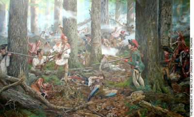 Oneidas at the Battle of Oriskany Painting