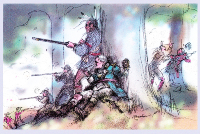 Battle of Oriskany Drawing