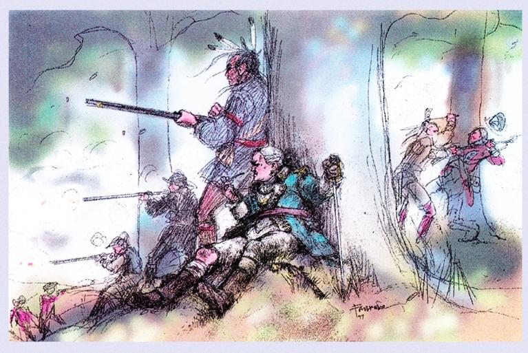 Battle of Oriskany Drawing