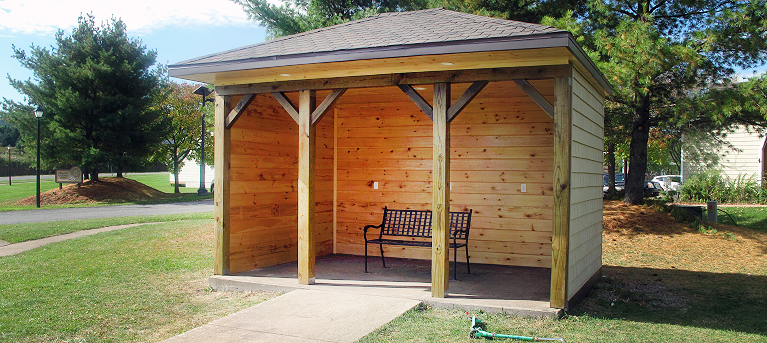 Nation Constructs Bus Shelter at White Pines