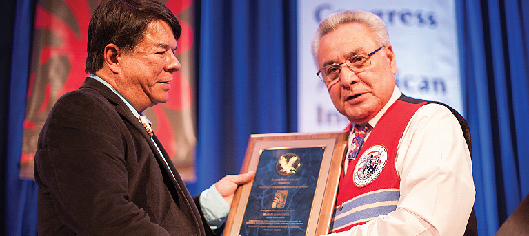 Halbritter Honored with Native Voice Award by National Congress of American Indians