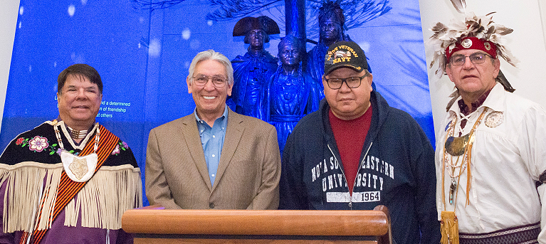 Oneida Nation Statue at the National Museum of the American Indian Enhanced with New, Multimedia Display
