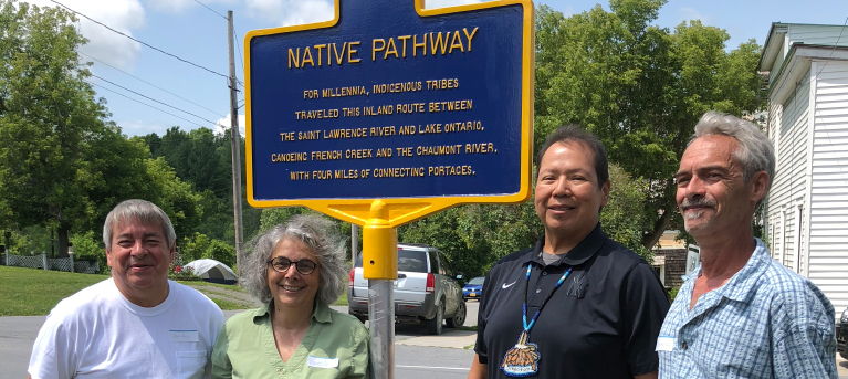 Oneida Nation Members Participate in Unveiling of Historical Marker