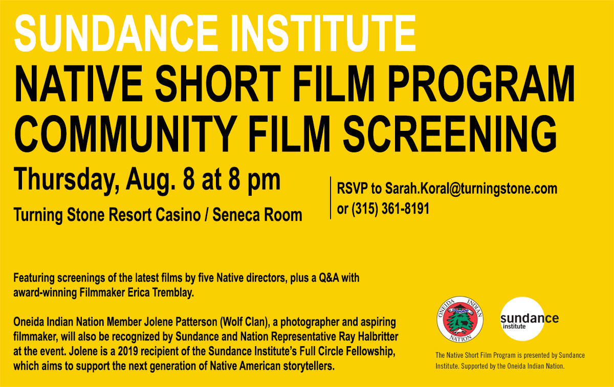 Oneida Indian Nation and Sundance Institute Native Film Series