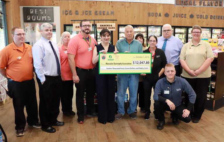 Oneida Indian Nation's Maple Leaf Markets and SāvOn Convenience Stores Raise Over $12,000 for Muscular Dystrophy Association