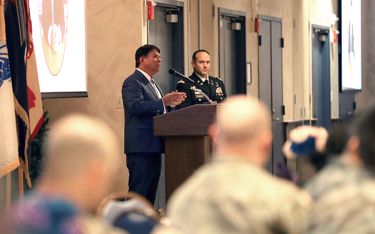 Oneida Indian Nation Representative Ray Halbritter Delivers Keynote Remarks at Fort Drum's Annual Celebration of American Indian Heritage Month