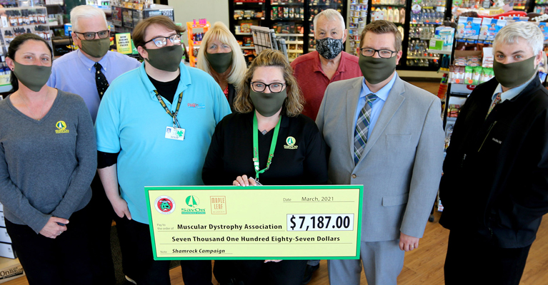 Oneida Indian Nation's SāvOn, Maple Leaf Market Convenience Stores Raise Over $7,000 for Muscular Dystrophy Association